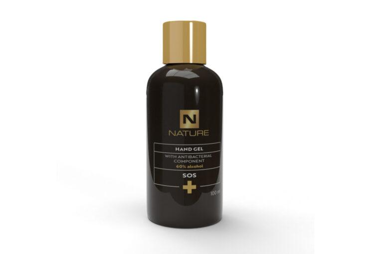 antibakteriální gel obalový design